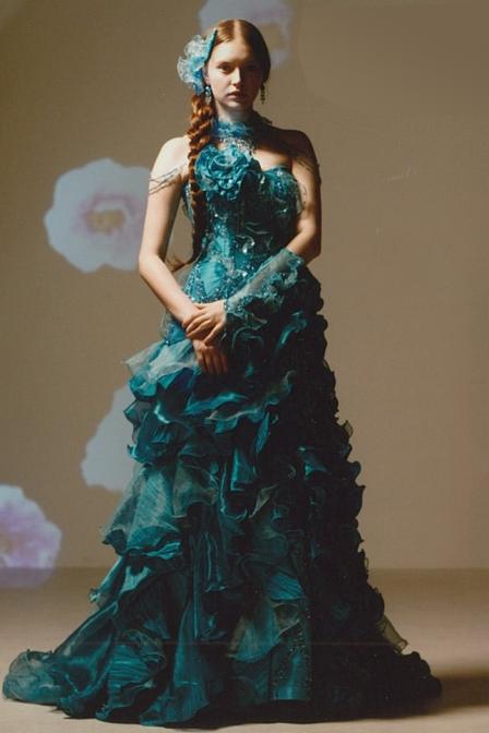 おすすめドレス4:ブルー・グリーン
